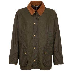 Lightweight green jacket in waxed cotton