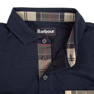Corpatch polo shirt with tartan details