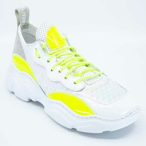 Energy B sneakers in white and yellow
