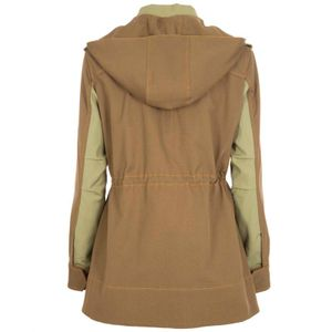 Green field jacket with multipockets