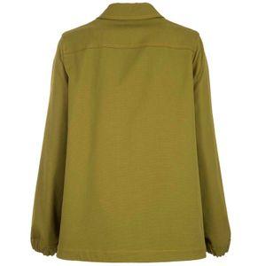 Green jacket with maxi pockets