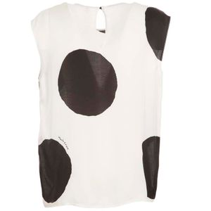Viscose top with maxi polka dots