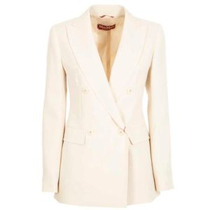 Double-breasted jacket in Ebbri satin