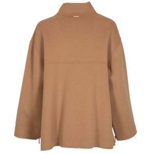 Wool jacket with zip and Safari belt