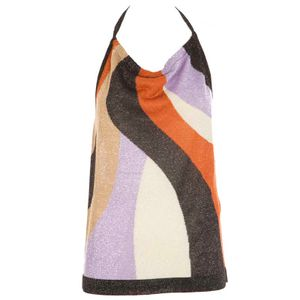 Multicolored top with lurex details