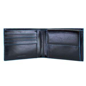Portafoglio con portamonete in pelle