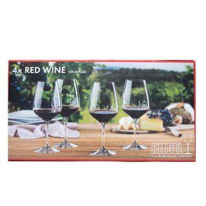 Set of 4 Red Wine Vin Rouge glasses