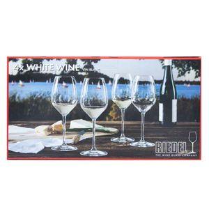 Set of 4 White Whine Vin blanc glasses