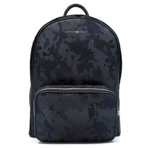 Backpack in black camouflage fabric
