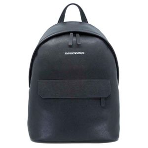 Black backpack in regenerated leather