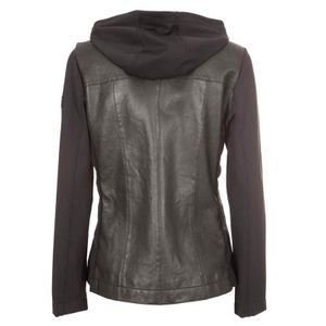 Aghora Bmat Light leather and technical fabric jacket