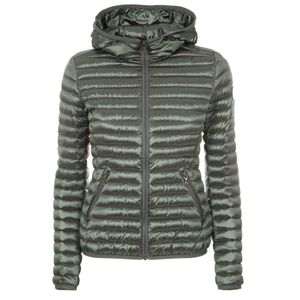 Slim fit shiny down jacket with hood 2224R