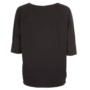 T-Shirt nera oversize con scritta