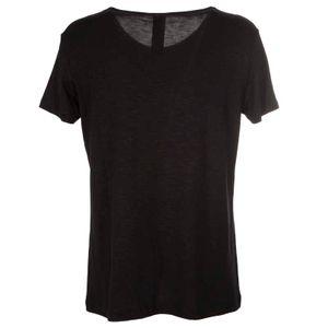 T-shirt in jersey di viscosa con logo floreale