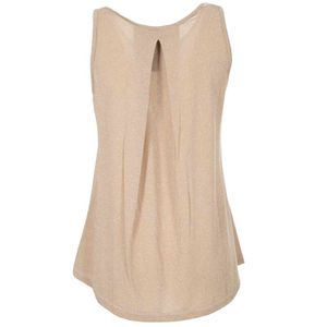 Two-tone tank top with lurex details