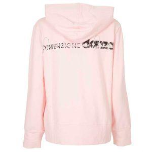 Felpa rosa con cappuccio e logo glitter