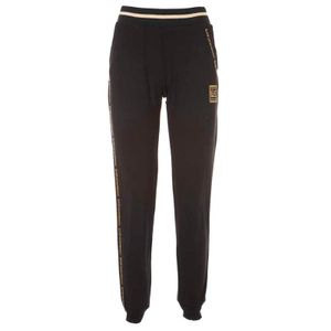 Black jogger trousers with golden details