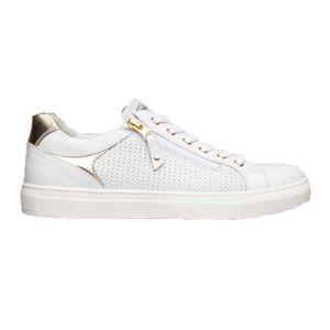 Sneakers Skipper bianca in pelle intrecciata