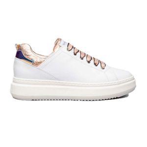 Sneakers con inserti in lurex rosa