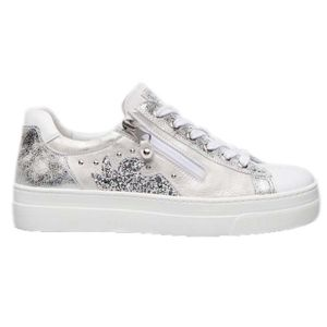 Sneakers bianca con dettagli luccicanti