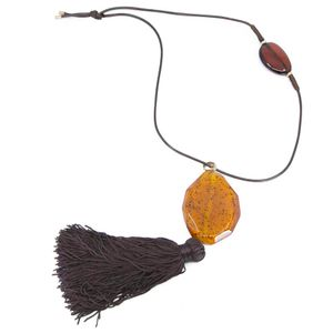 Soloist tassel pendant necklace