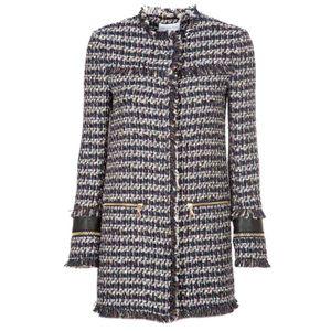 Bouclé and lurex coat