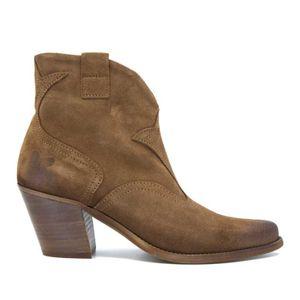 Serrage Tan Texan ankle boot