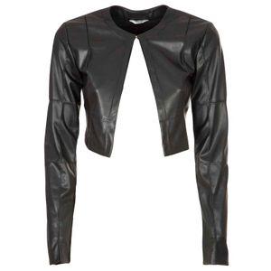 Faux leather shrug