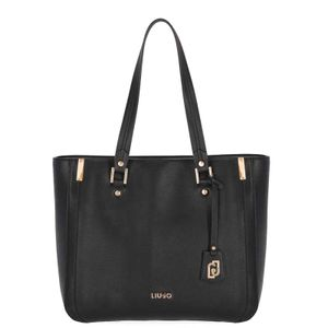 Eco-leather bag with logoed pendant