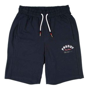 Short blue trousers with logo