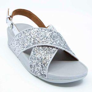 Lulu Glitter gray sandal