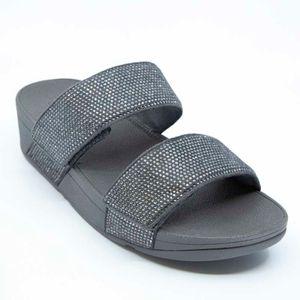 Mina Crystal Slides gray slipper