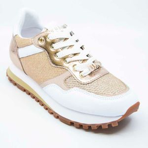 Sneakers with laminated details