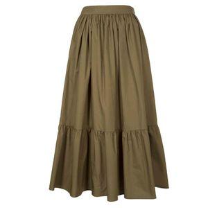 Oversized skirt in cotton muslin