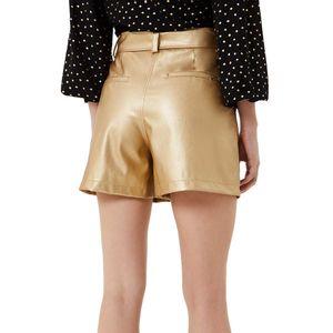 Gold laminated shorts