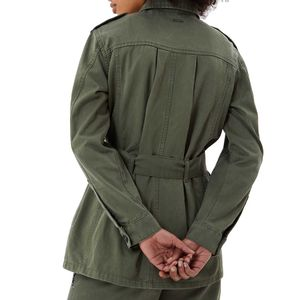 Green field jacket with rhinestones