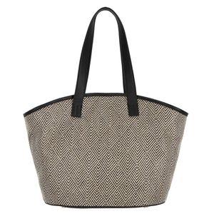 Straw-effect shopping bag