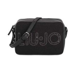 Shoulder bag with logo studs
