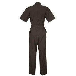Cotton jumpsuit with split belt