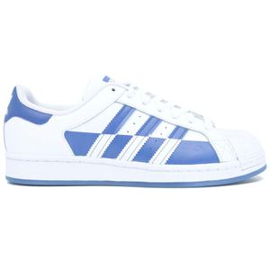 Superstar sneakers in white and blue