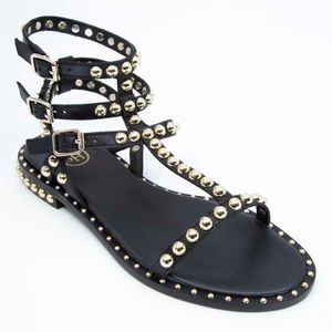 Black Play sandal with studs