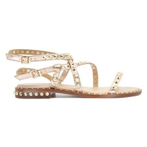 Petra golden sandal with studs
