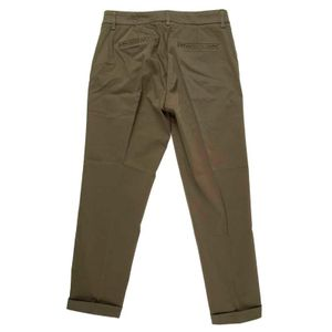 Green cotton chino trousers