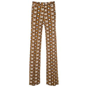 Palma brown trousers with print
