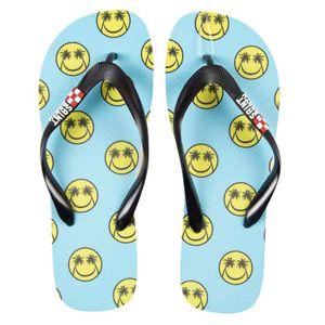 Palm Smile light blue flip flops