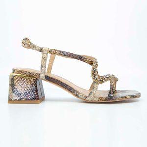 Python sandal with rhinestones