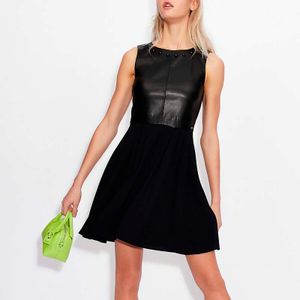Double fabric dress with studs
