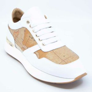 White sneakers with Geo print