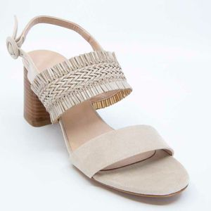 Braided sandal with fringes