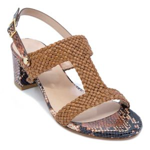 Python sandal with woven upper